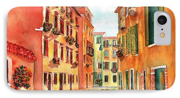 Venice Italy Street IPhone Case by Sharon Mick