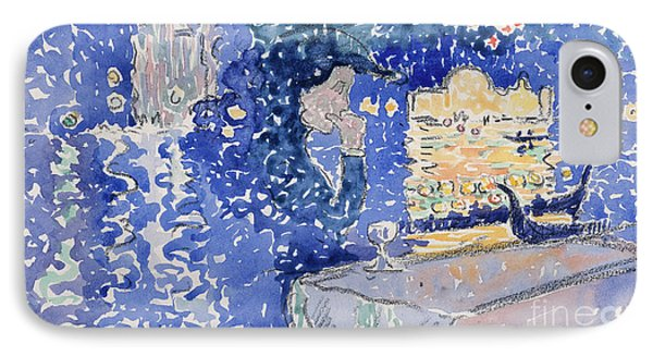 Venice  Night Of The Festival Of The Redeemer, 1903 IPhone Case by Henri Edmond Cross