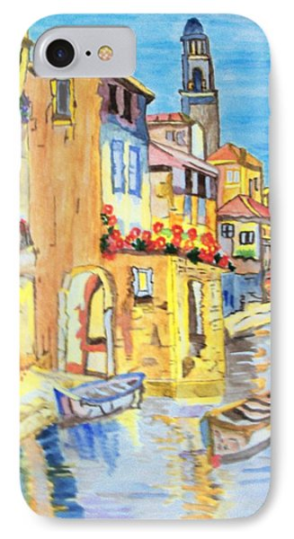 IPhone Case featuring the painting Venice On A Summer Afternoon by Connie Valasco