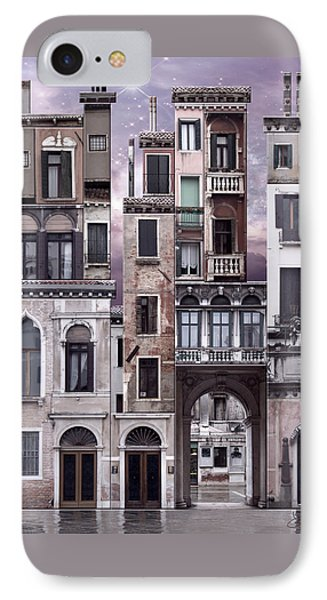 Venice Reconstruction 1 IPhone Case by Joan Ladendorf