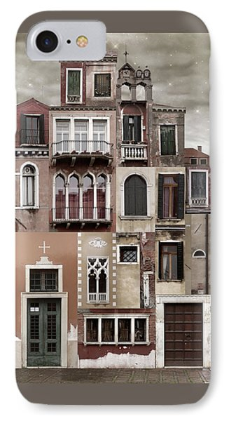 Venice Reconstruction 2 IPhone Case by Joan Ladendorf