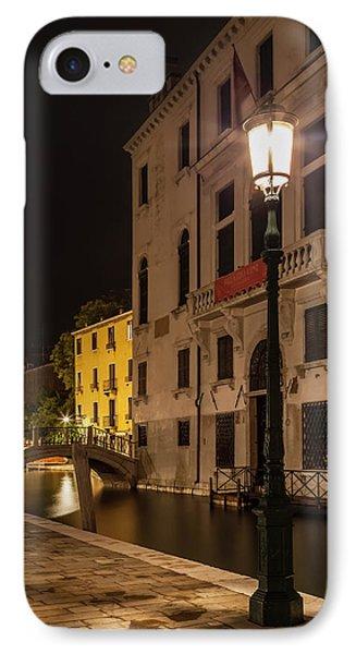 Venice Rio Di San Vio And Palazzo Cini IPhone Case by Melanie Viola