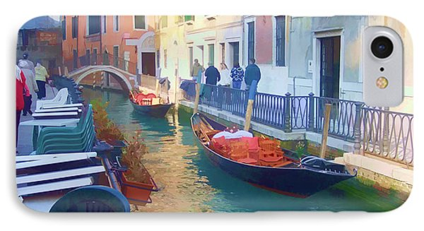 IPhone Case featuring the photograph Venice Sidewalk Cafe by Roberta Byram