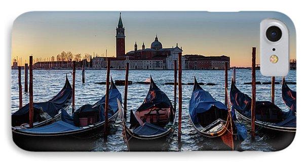 Venice Sunrise With Gondolas Phone Case by Evgeni Dinev