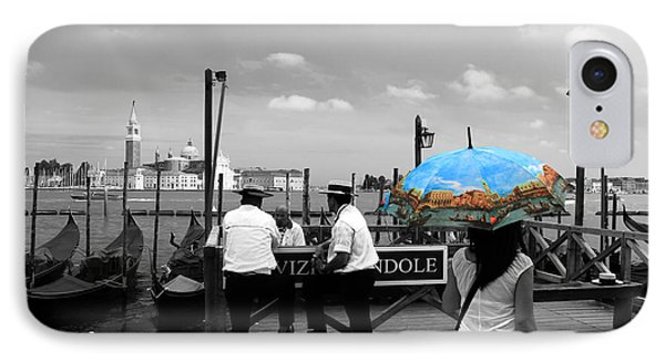 IPhone Case featuring the photograph Venice Umbrella by Andrew Fare