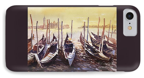 IPhone Case featuring the painting Venice Watercolor- Italy by Ryan Fox