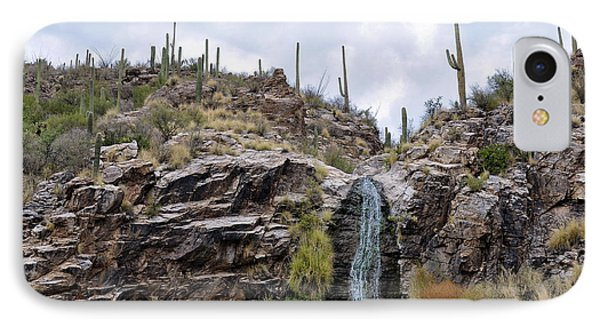 Ventana Canyon Waterfall IPhone Case by Gina Savage