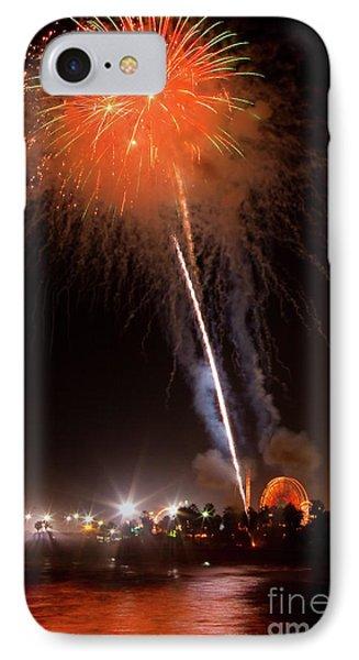 Ventura California Fair Fireworks IPhone Case by John A Rodriguez