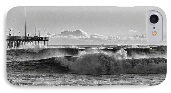 Ventura Pier El Nino 2016 IPhone Case by John A Rodriguez