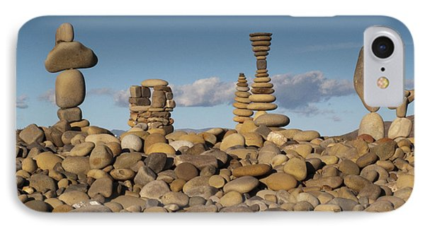 Ventura River Rock Art IPhone Case