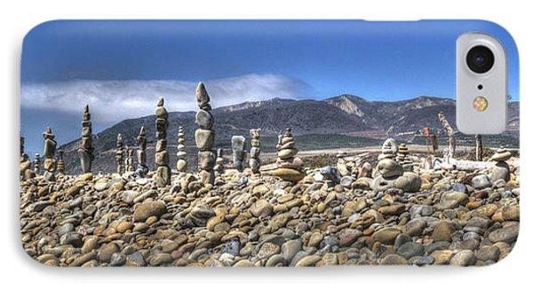 Ventura River Rock Art Panorama  IPhone Case