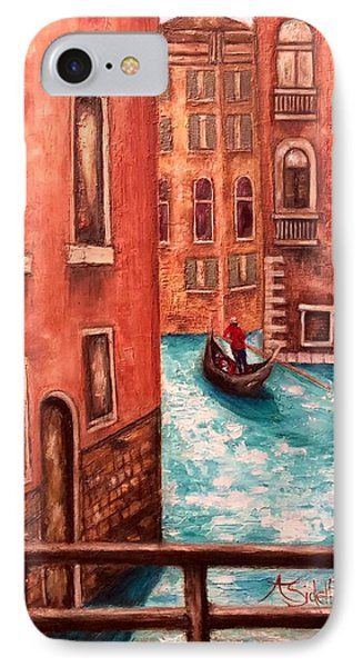 IPhone Case featuring the painting Venice by Annamarie Sidella-Felts