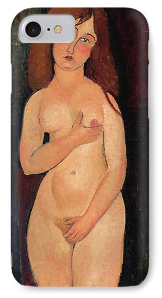 Venus Or Standing Nude Or Nude Medici IPhone Case by Amedeo Modigliani