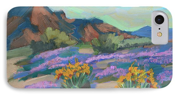 IPhone Case featuring the painting Verbena And Spring by Diane McClary