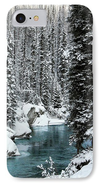 Verdant Creek - Winter 1 IPhone Case by Stuart Turnbull