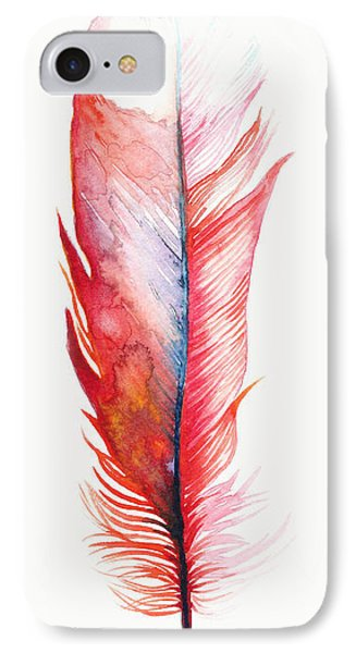 Vermilion Feather IPhone Case