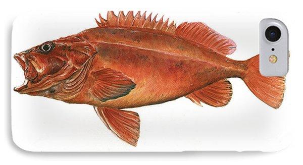 Vermilion Rockfish IPhone Case by Juan Bosco