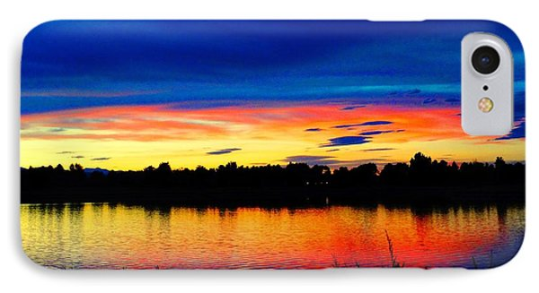 IPhone Case featuring the photograph Vermillion Sunset by Eric Dee