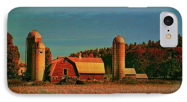 IPhone Case featuring the photograph Vermont Autumn Barn by Deborah Benoit