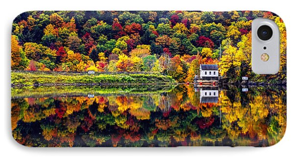Vermont Autumn Reflections IPhone Case by Jean Hutchison