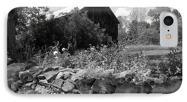 Vermont Barn And Stone Wall IPhone Case