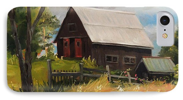 Vermont Barn IPhone Case by Nancy Griswold