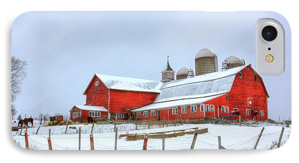 IPhone Case featuring the digital art Vermont Barn by Sharon Batdorf