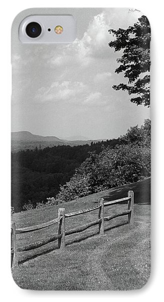 IPhone Case featuring the photograph Vermont Countryside 2006 Bw by Frank Romeo