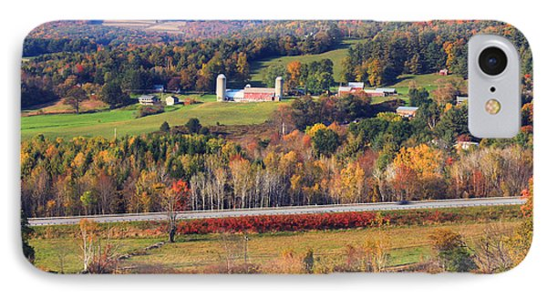 Vermont Countryside View Pownal IPhone Case by John Burk