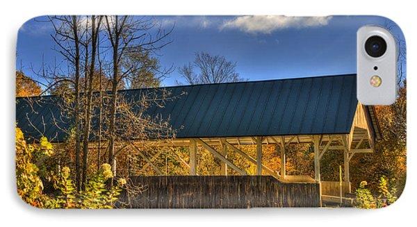 Vermont Covered Bridge In Autumn IPhone Case