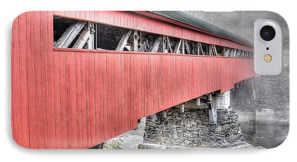 Vermont Covered Bridge IPhone Case by Steve Brown