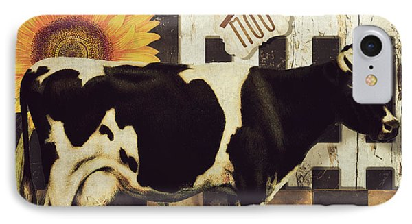 Vermont Farms Cow IPhone Case by Mindy Sommers