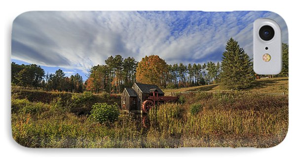 Vermont Grist Mill Panoramic IPhone Case by Edward Fielding