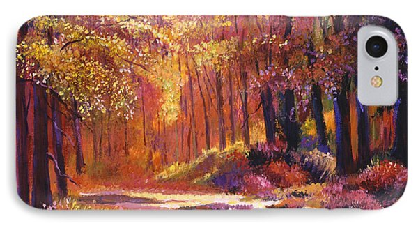 Vermont Paintbox Forest IPhone Case by David Lloyd Glover