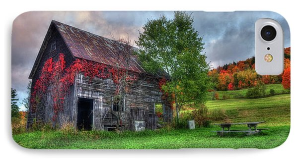 Vermont Red Barn In Autumn IPhone Case