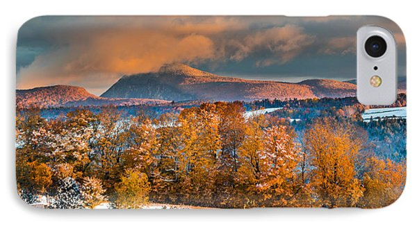 Vermont Snowliage Scene IPhone Case