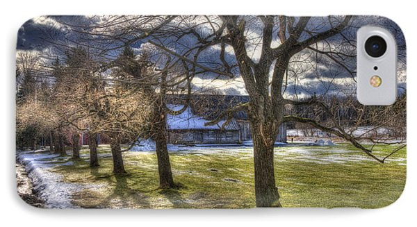 Vermont Winter Barn - Stowe IPhone Case by Joann Vitali