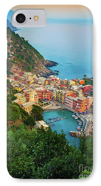 Vernazza From Above Phone Case by Inge Johnsson