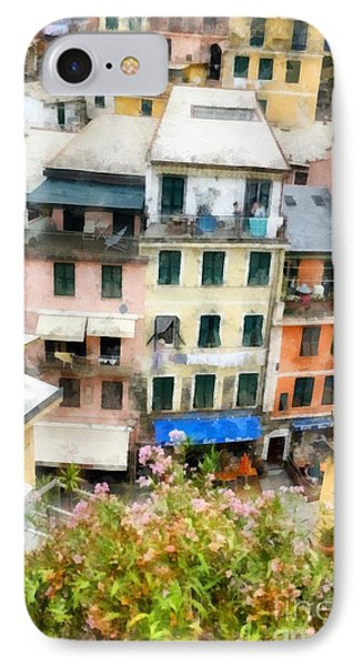 Vernazza Italy In The Cinque Terra IPhone Case by Edward Fielding