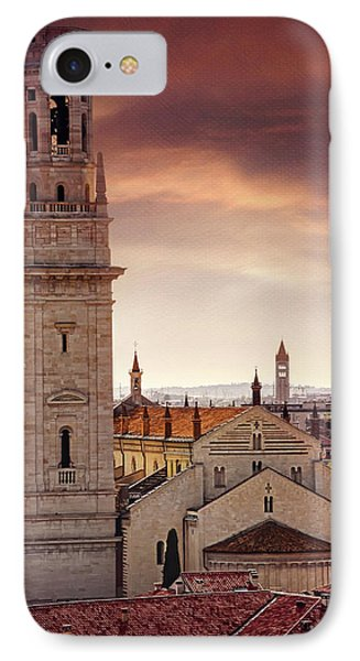 Verona Cathedral From St Peter's Hill  IPhone Case