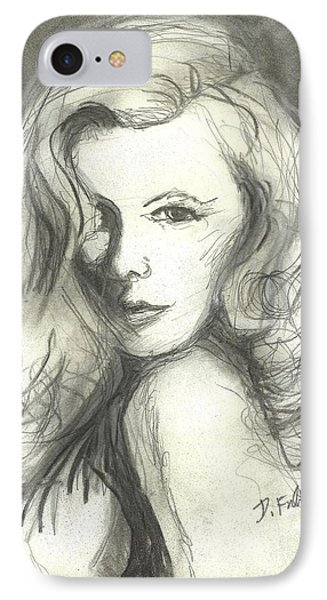 Veronica Lake IPhone Case by Denise Fulmer
