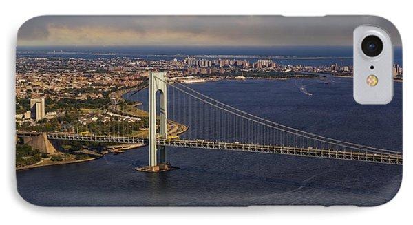 Verrazano Narrows Bridge Nyc IPhone Case by Susan Candelario