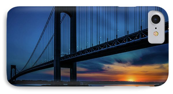 IPhone Case featuring the photograph Verrazano Sunset by Chris Lord