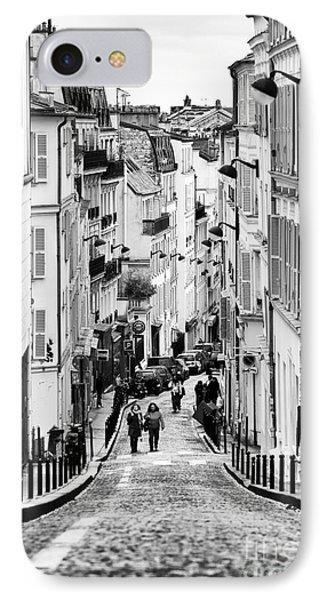Vers Le Haut De La Rue Phone Case by John Rizzuto