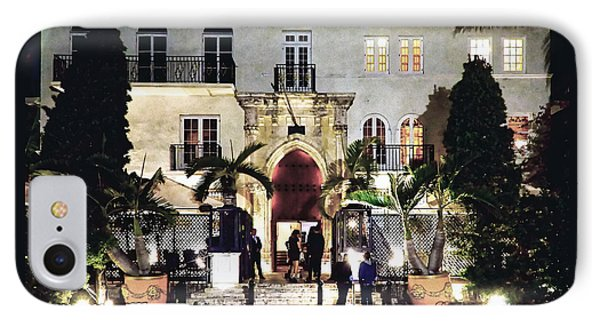 IPhone Case featuring the photograph Versace Mansion South Beach by Gary Dean Mercer Clark