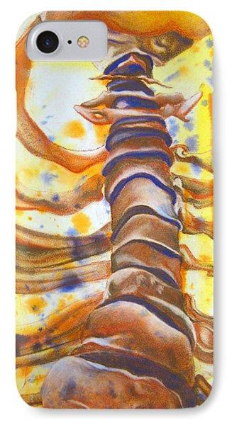 Vertebral Column IPhone Case by Emma Craig