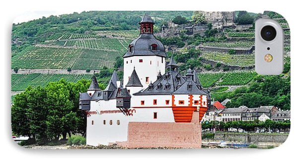 Vertical Vineyards And Buildings On The Rhine IPhone Case