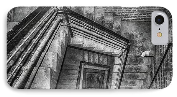 Vertigo - Cat - Stairwell IPhone Case by Nikolyn McDonald