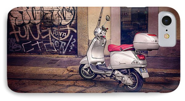 IPhone Case featuring the photograph Vespa Scooter In Milan Italy  by Carol Japp