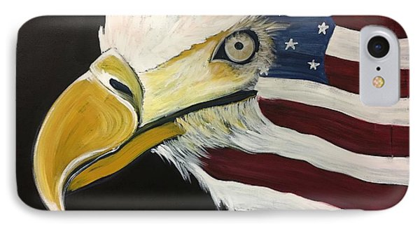 IPhone Case featuring the painting Veteran's Day Eagle by Laurie Maves ART